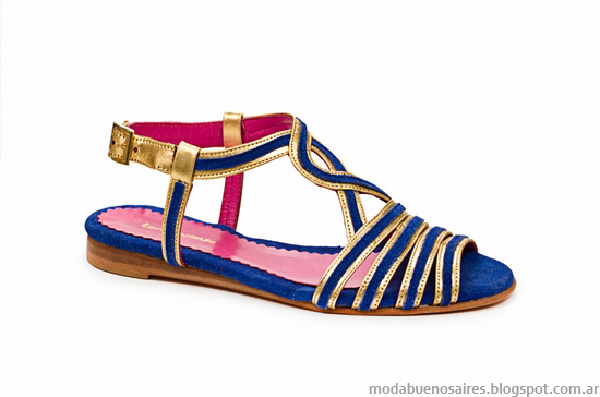 Sandalias verano 2014. Moda Calzados Femenino. Laura Constanza colección 2014.