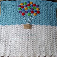 Шерстяное ажурное одеяло