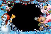 Moldura de Natal com fundo transparente - 1