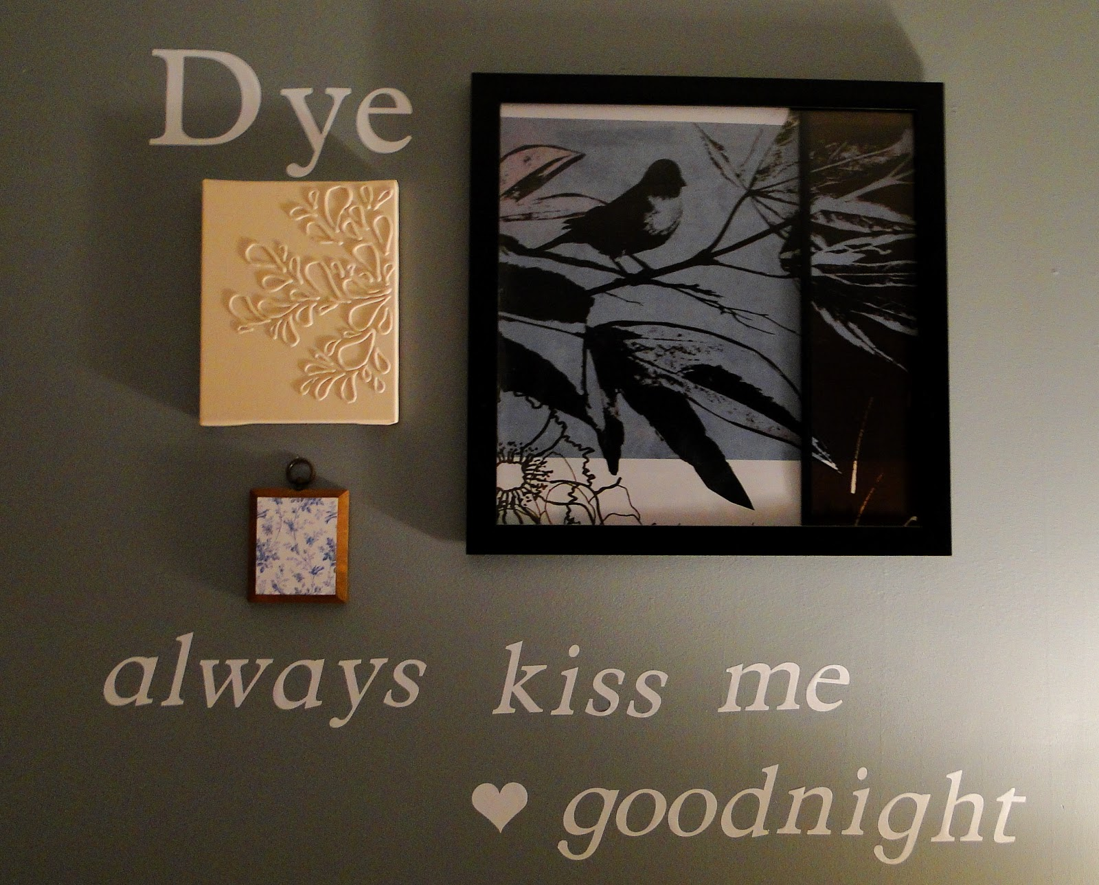 Wall Decoration Above Bed : Domestically modern over the bed wall decor
