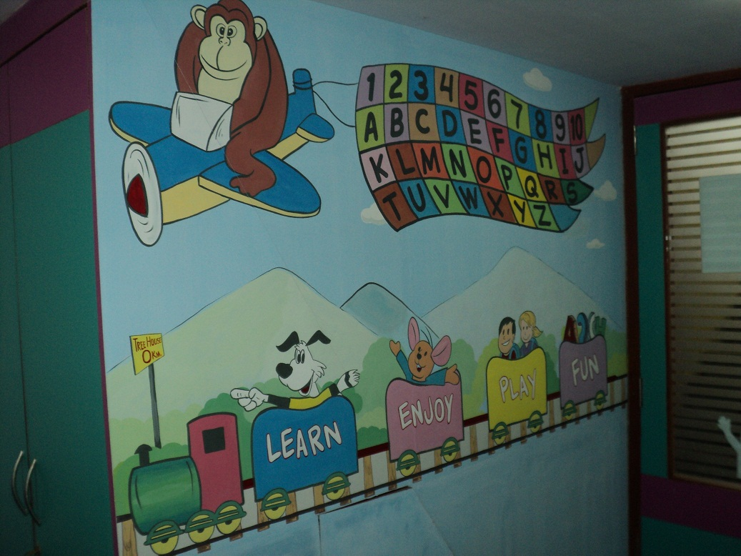 School kids classroom wall murals dadar for Educational mural