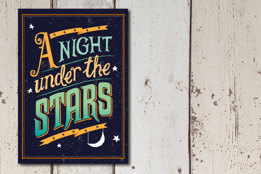bricks honey night under the stars invitation