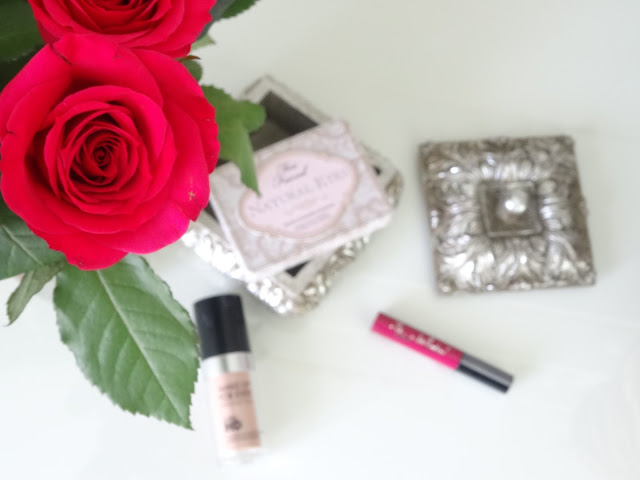 Make Up Forever Ultra HD foundation, Fleur De Force Lipgloss in Starry Night, Too Faced Natural Eye Palette,