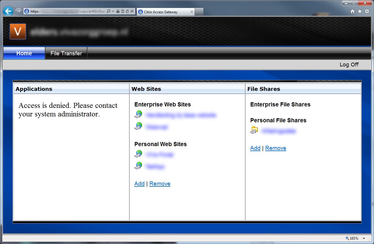 Fix Access Is Denied Error On Citrix Access Gateway Web Interface