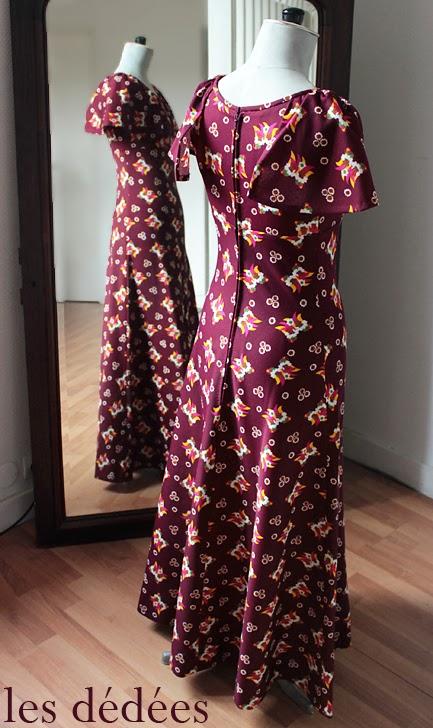 les dedees vintage recup creations robe longue imprime psychedelique annees 70 by ben. Black Bedroom Furniture Sets. Home Design Ideas