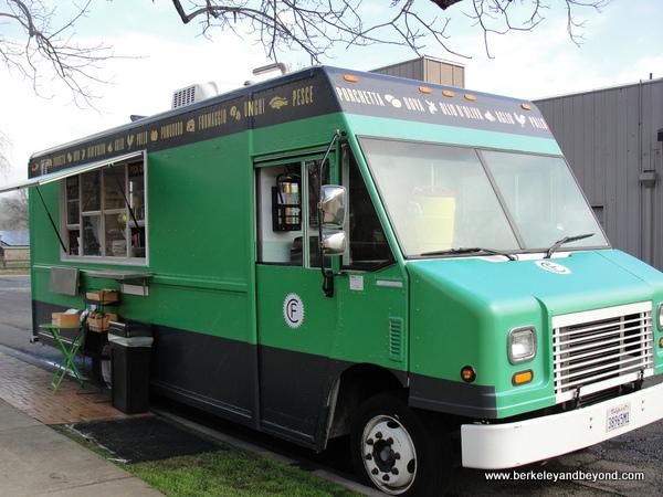 Bruschetteria food truck at Clif Family Velo Vino Tasting Room in St. Helena, California