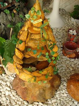 57.....ref : 0157 cascata móvel em pedra ( cascalho do rio grande )