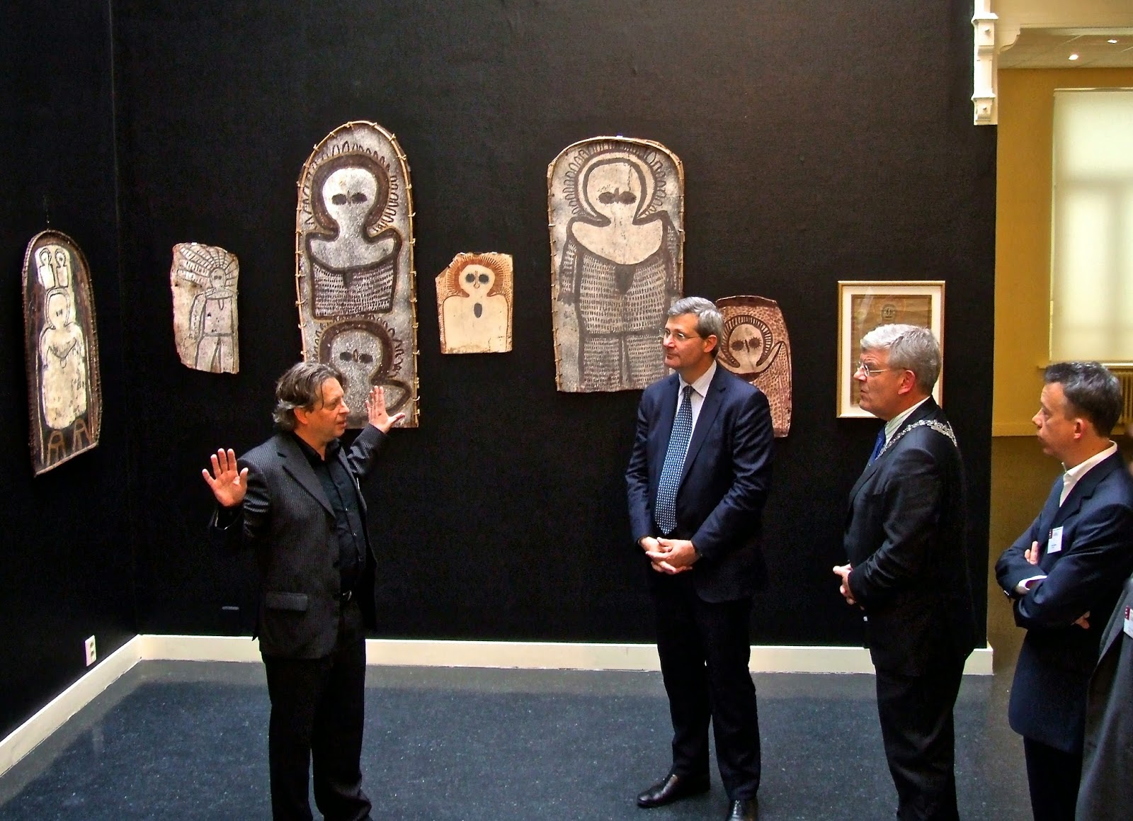 Vernissage musée art aborigène Utrecht AAMU