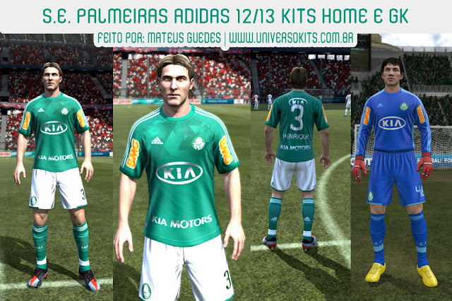 ScreenP FIFA 12: Uniforme Palmeiras Home e GK 12/13