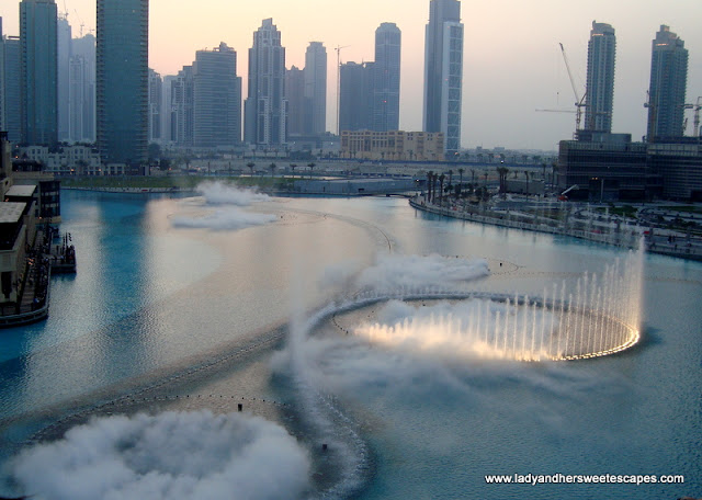 Dubai Fountain Top View
