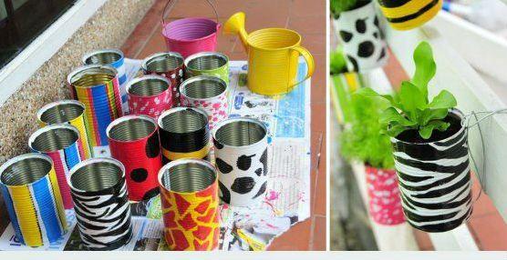 jardim vertical latas:Construindo Minha Casa Clean: 45 Hortas Incríveis na Decoração da