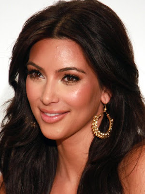 Kim Kardashian Gold Hoop Earrings