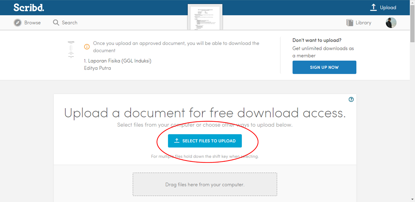 how to download files in scribd for free