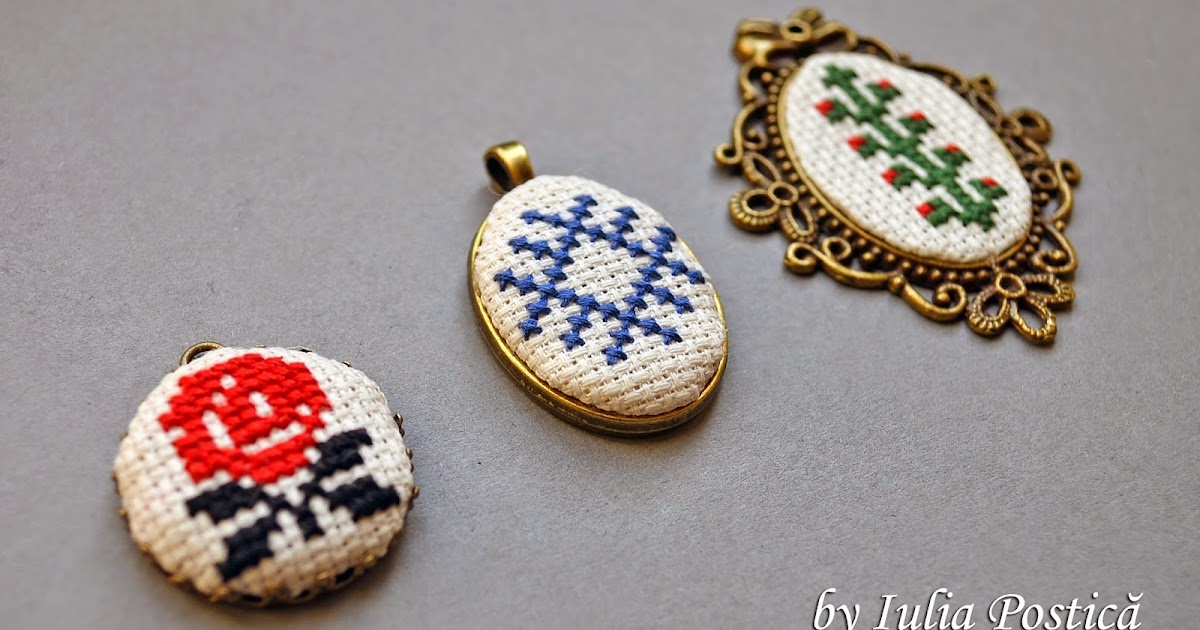 Beaded Treasury Pendants With Traditional Romanian Motifs