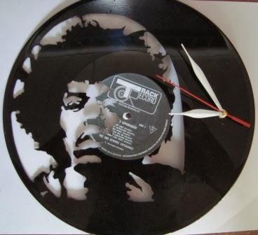 Piringan Hitam Jam Motif Jimi Hendrix