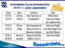 Introductorio Actividades julio-septiembre