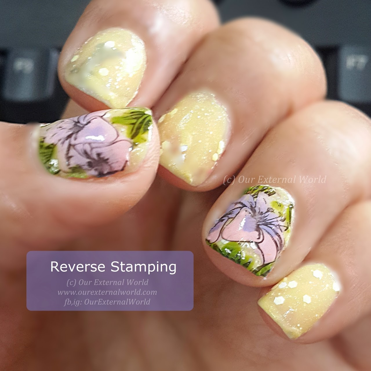 What is Reverse Stamping Nail Art