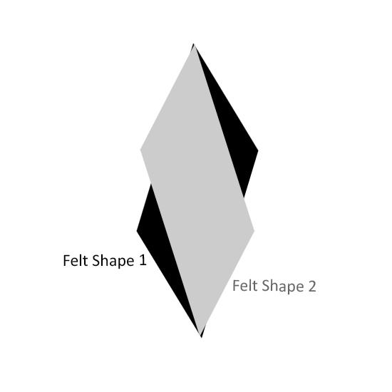 Multidimensional or Flat Felt & Pom-Pom Garland | The Inspired Wren
