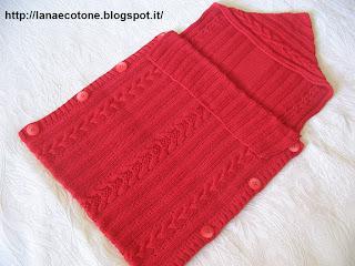 Lana E Cotone Maglia E Uncinetto Sacco Nanna