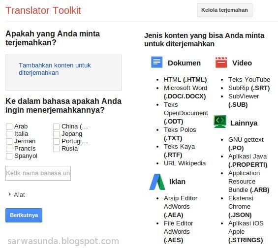 translator toolkit upload