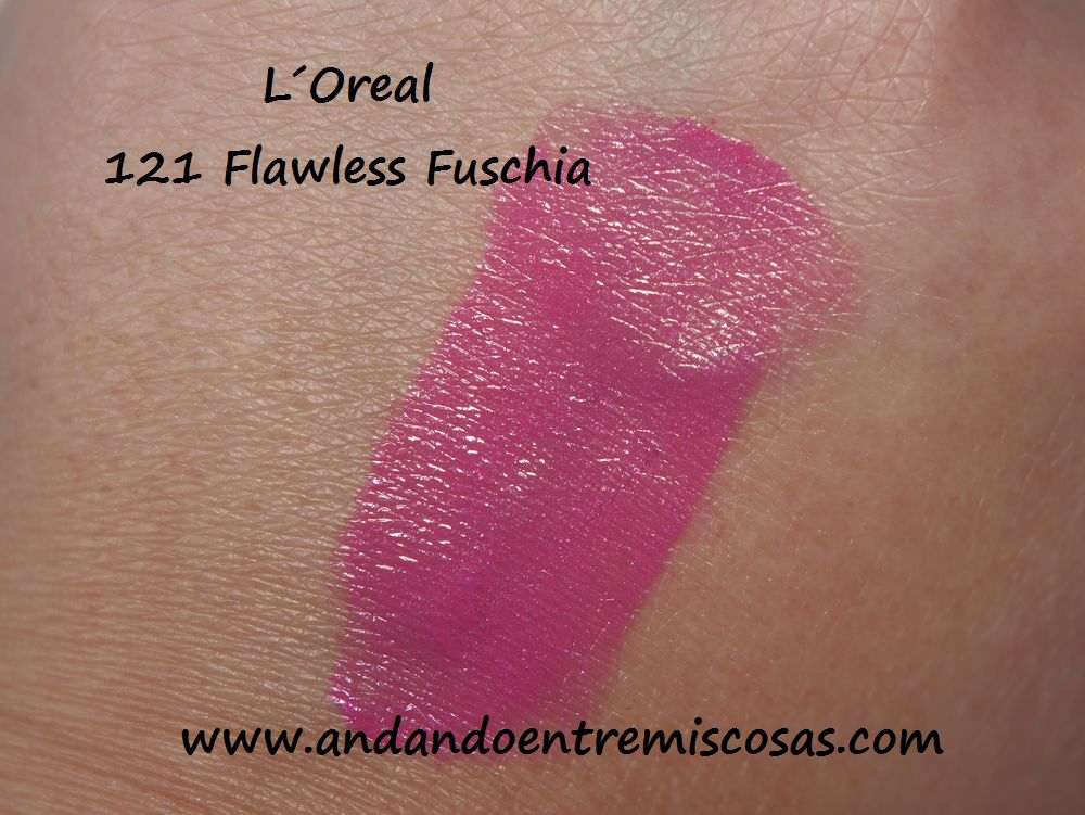 L´Oreal 121 Flawless Fuschia, Swatch