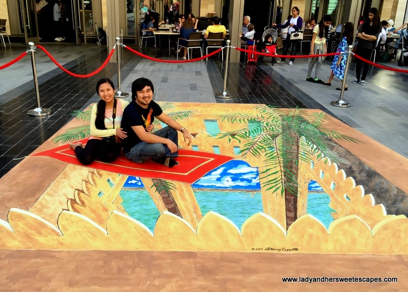magic carpet ride at Dubai Canvas