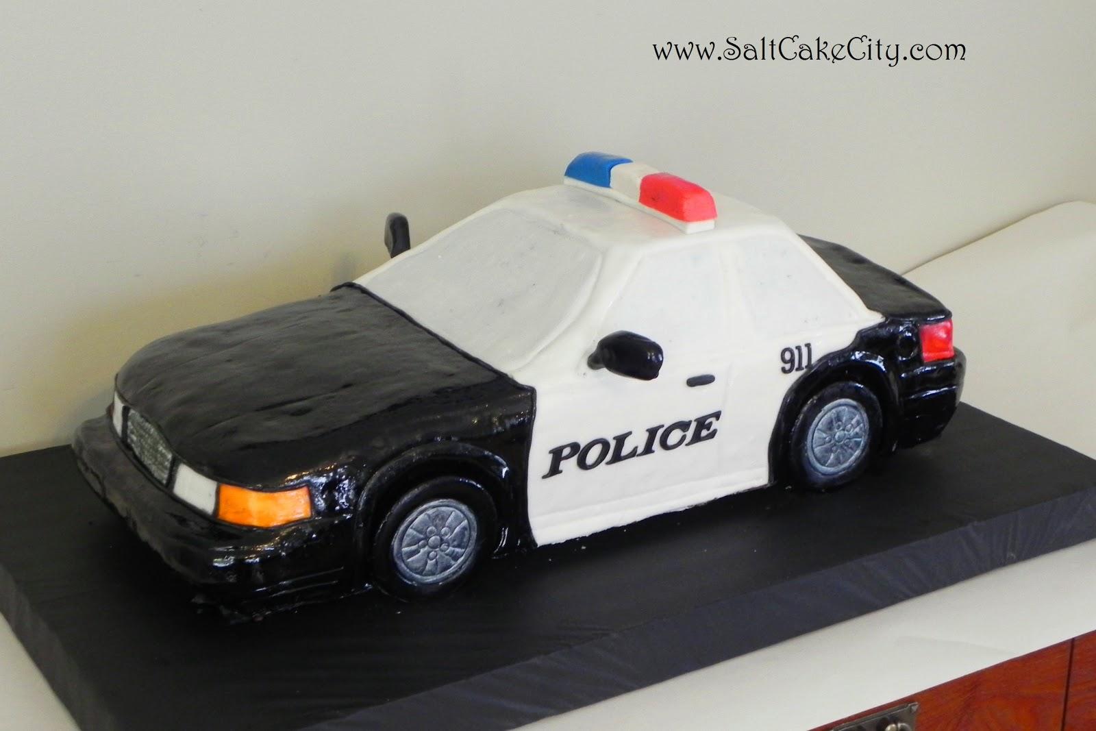 Salt Cake City Police Car Grooms Cake