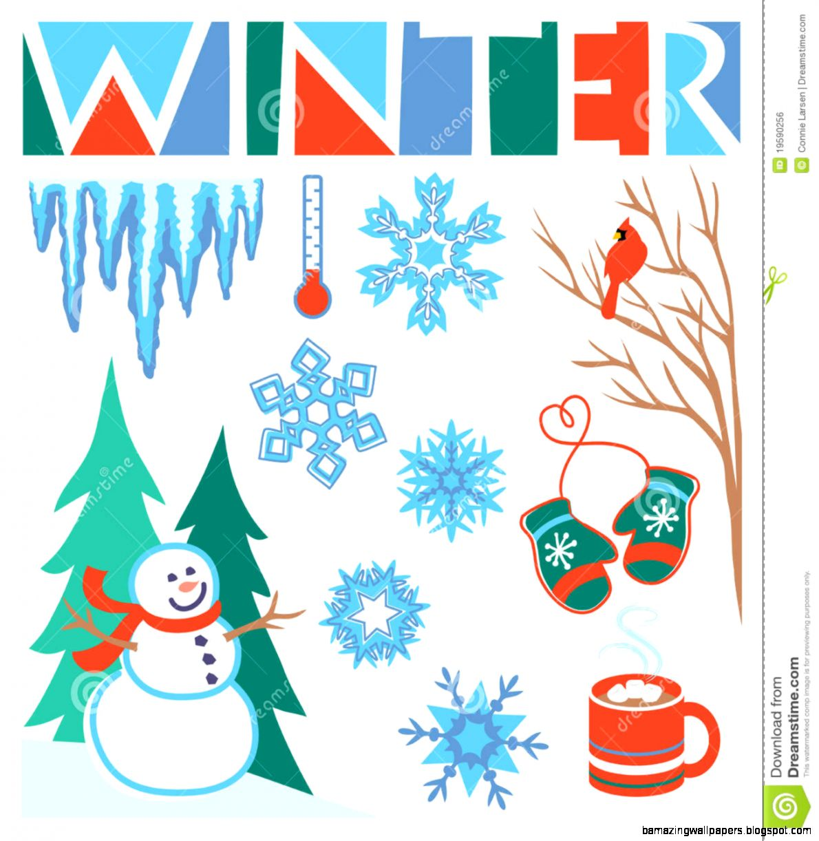 Winter Clip Art Seteps Royalty Free Stock Image   Image 19590256