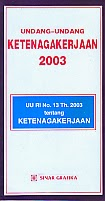 toko buku rahma: buku UU ketenagakerjaan 2003, penerbit sinar grafika