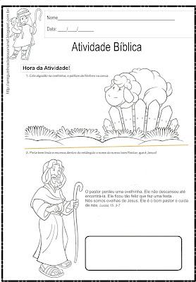 A ovelhinha - Atividade bíblica