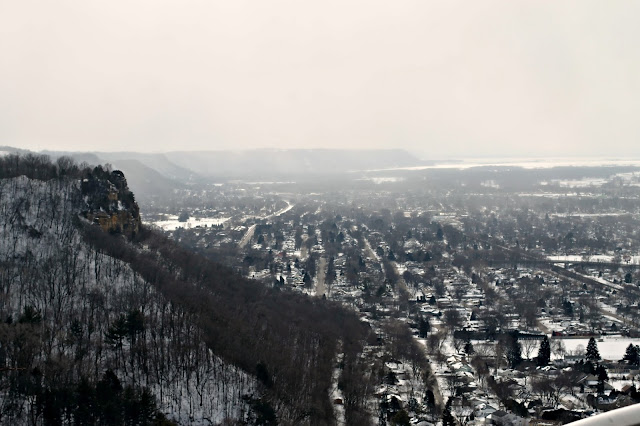 overlooking La Crosse, WI from Grandad Bluff