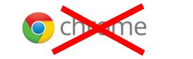 Chrome virker p.t. ikke her