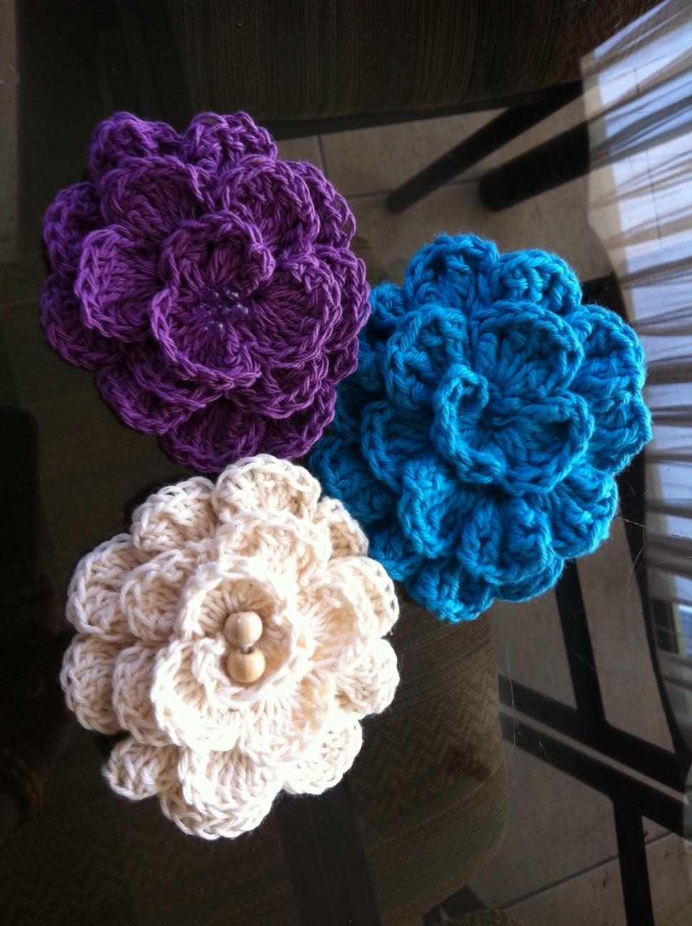 imagenes de flores tejidas a crochet - Tejedora Compulsiva: Flores tejidas