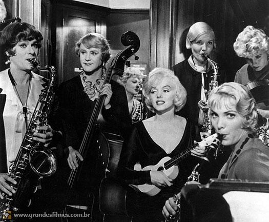 Marilyn Monroe em Quanto Mais Quente Melhor, de Billy Wilder