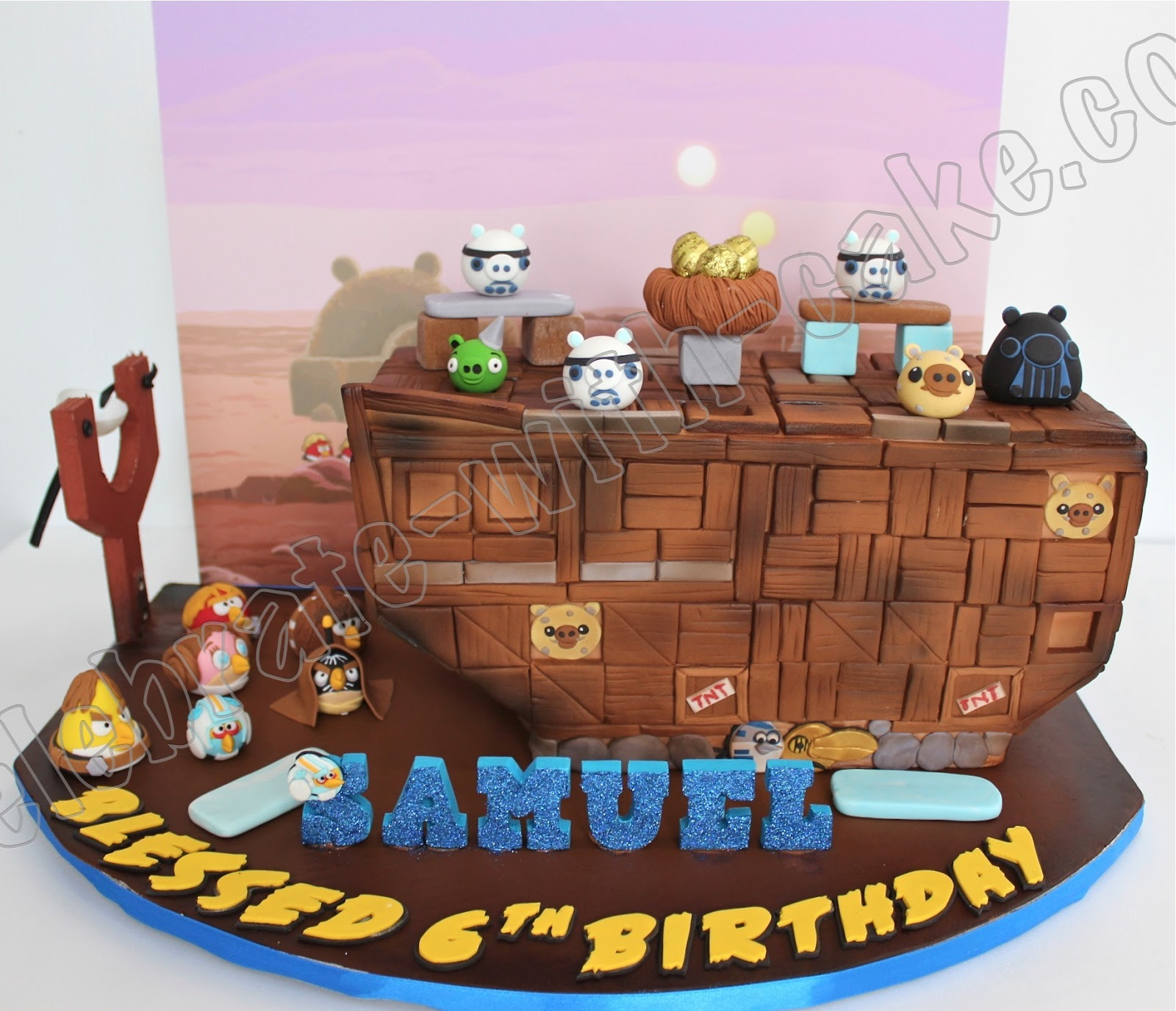 Celebrate With Cake Playable Angry Birds Star Wars Cake