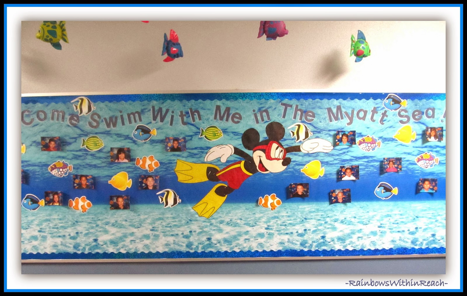 Bulletin Board with Under Water Theme via RainbowsWithinReach