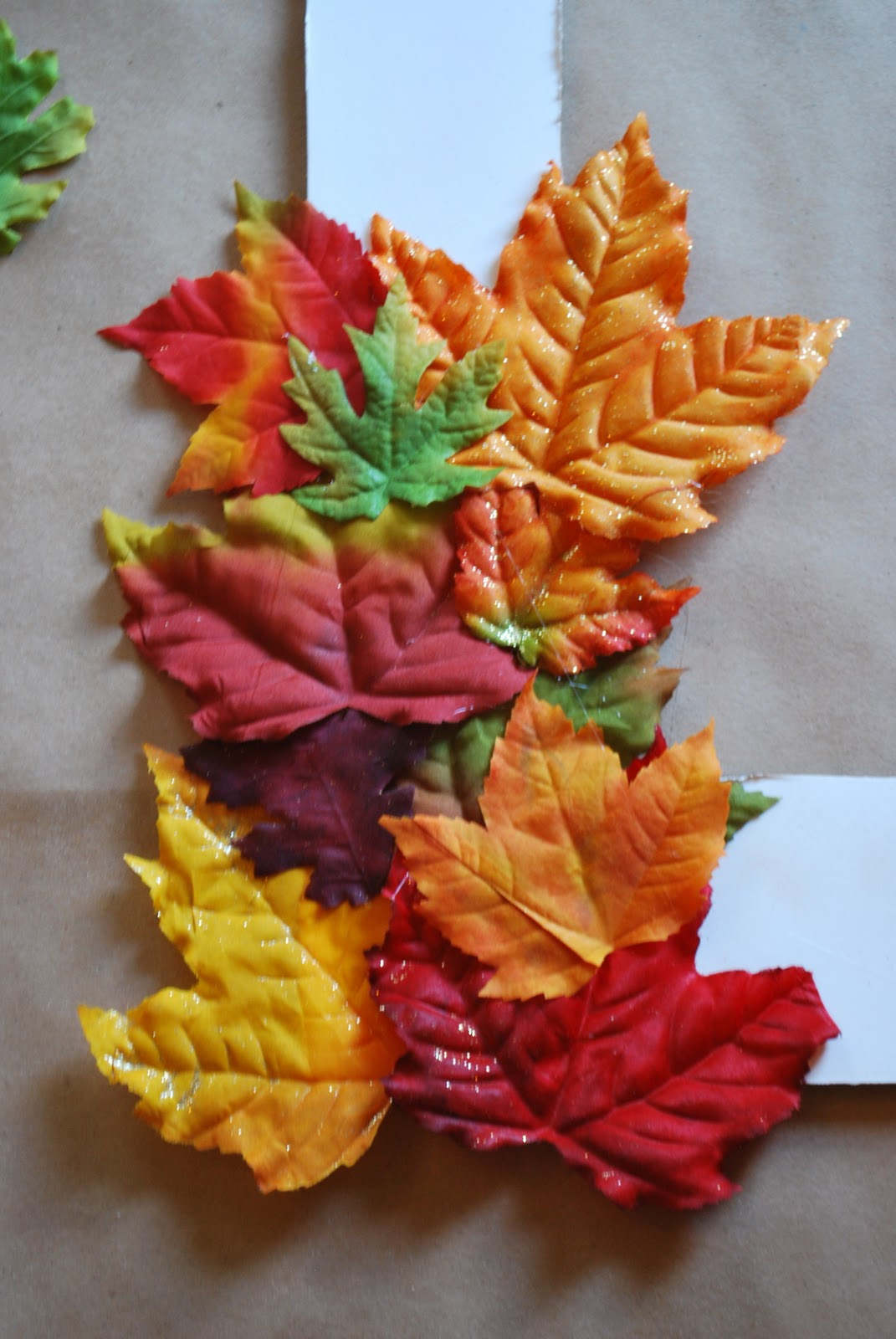 the leaves, being sure to keep a balance of color on all sides