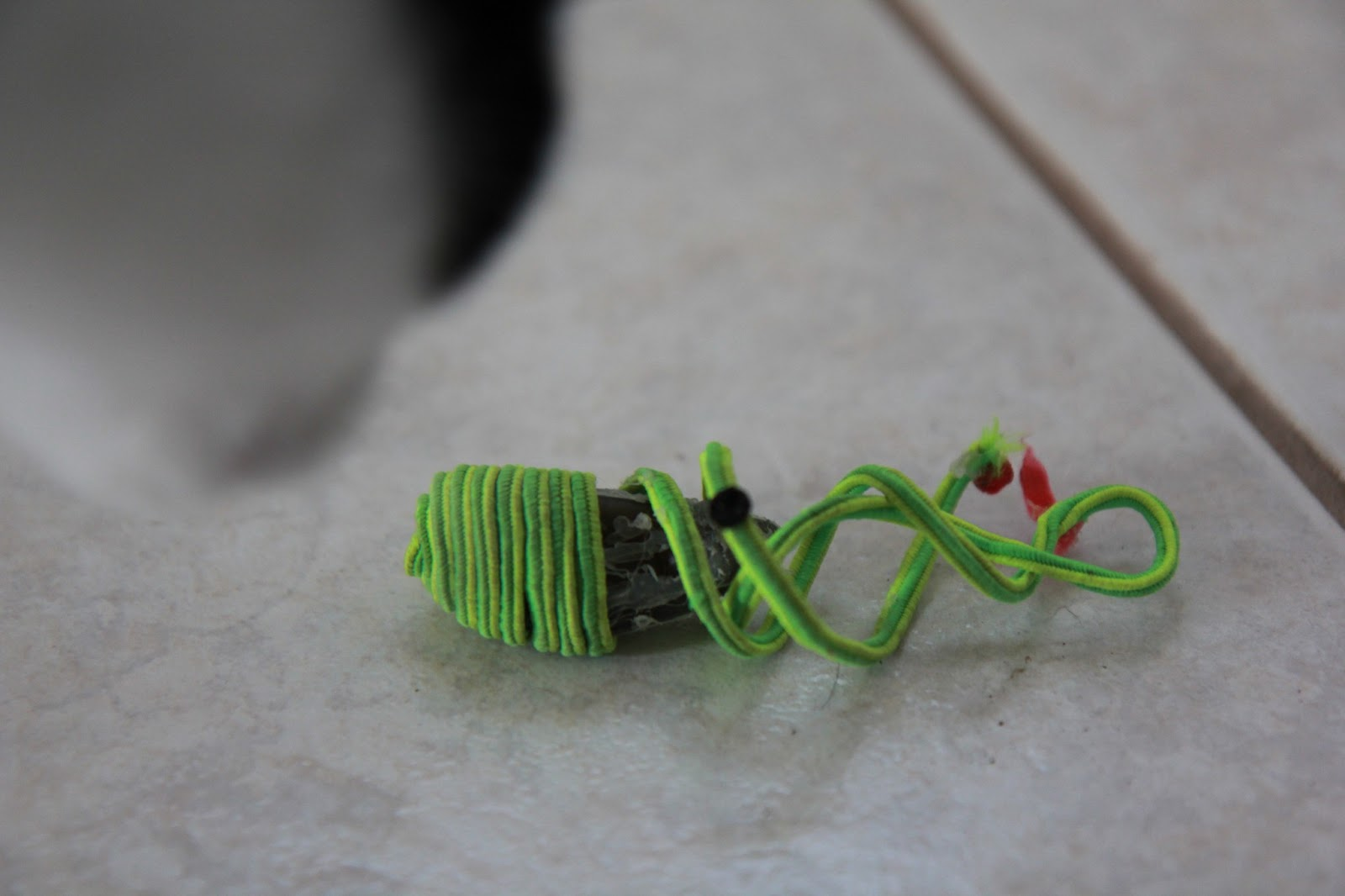 Another ruined cat toy
