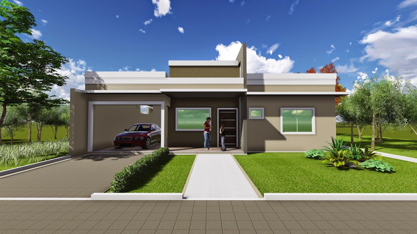 Residencia unifamiliar de pavimento único. Engenheiros e Arquitetos  #6E812D 1600 900