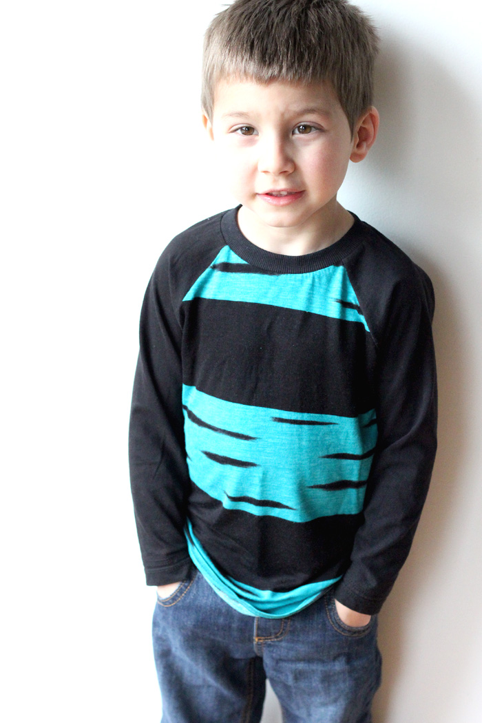 Black & Teal Recess Raglan - Boys