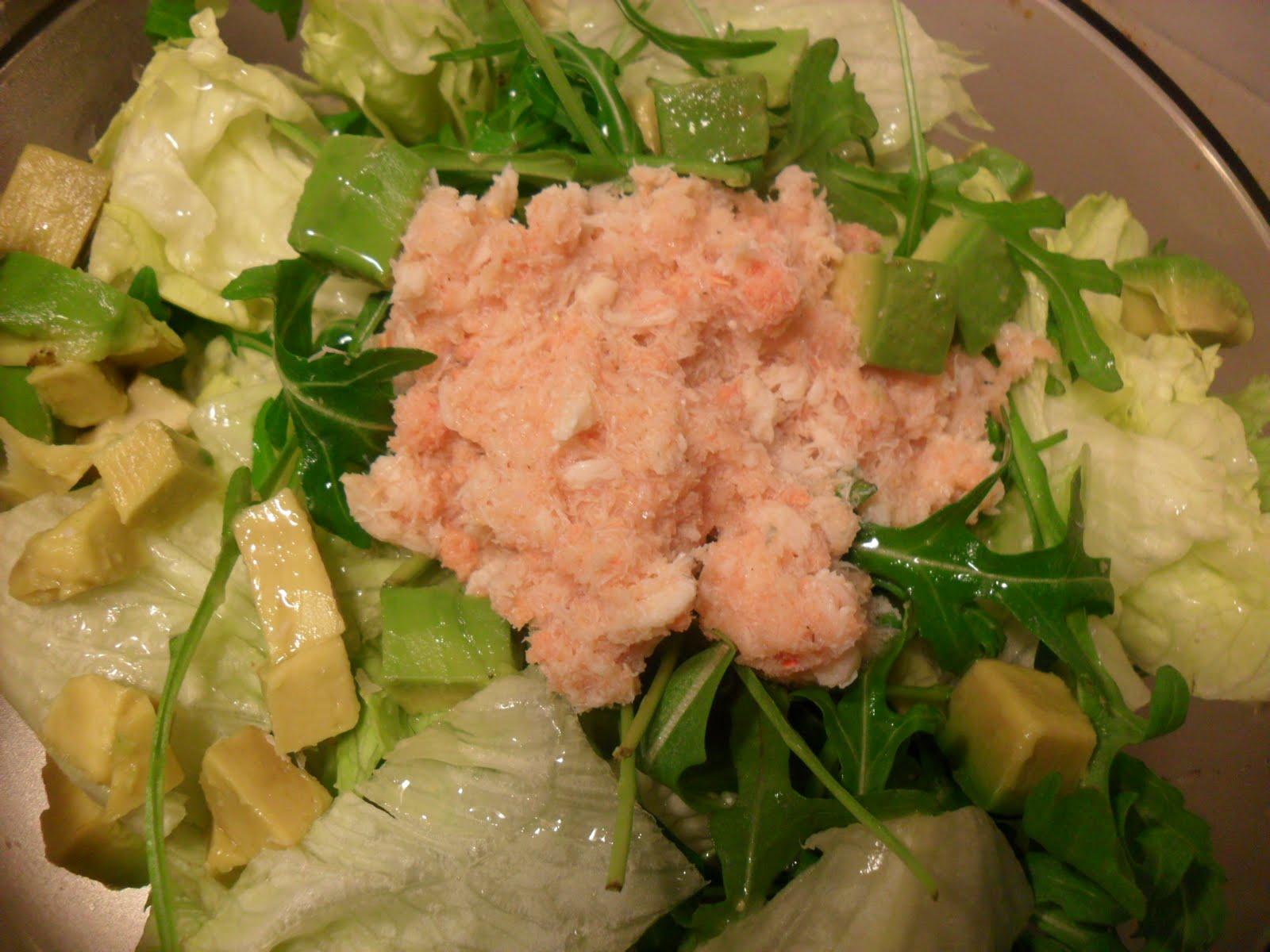 Insalata al sapor d 39 ostrica con avocado e polpa di for Tetto in stile ranch