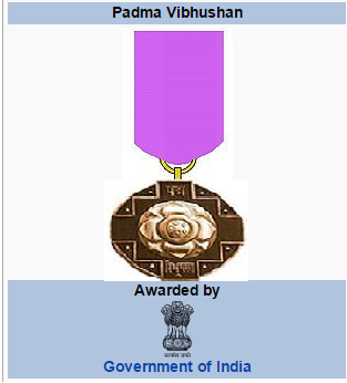 Padma Vibhushan Awards 2016 Government of India Ministry of Home Affairs
