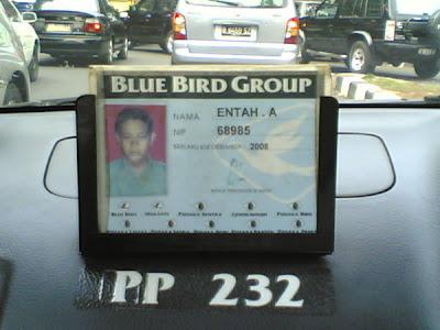 Nama-nama unik Pak Supir Taksi
