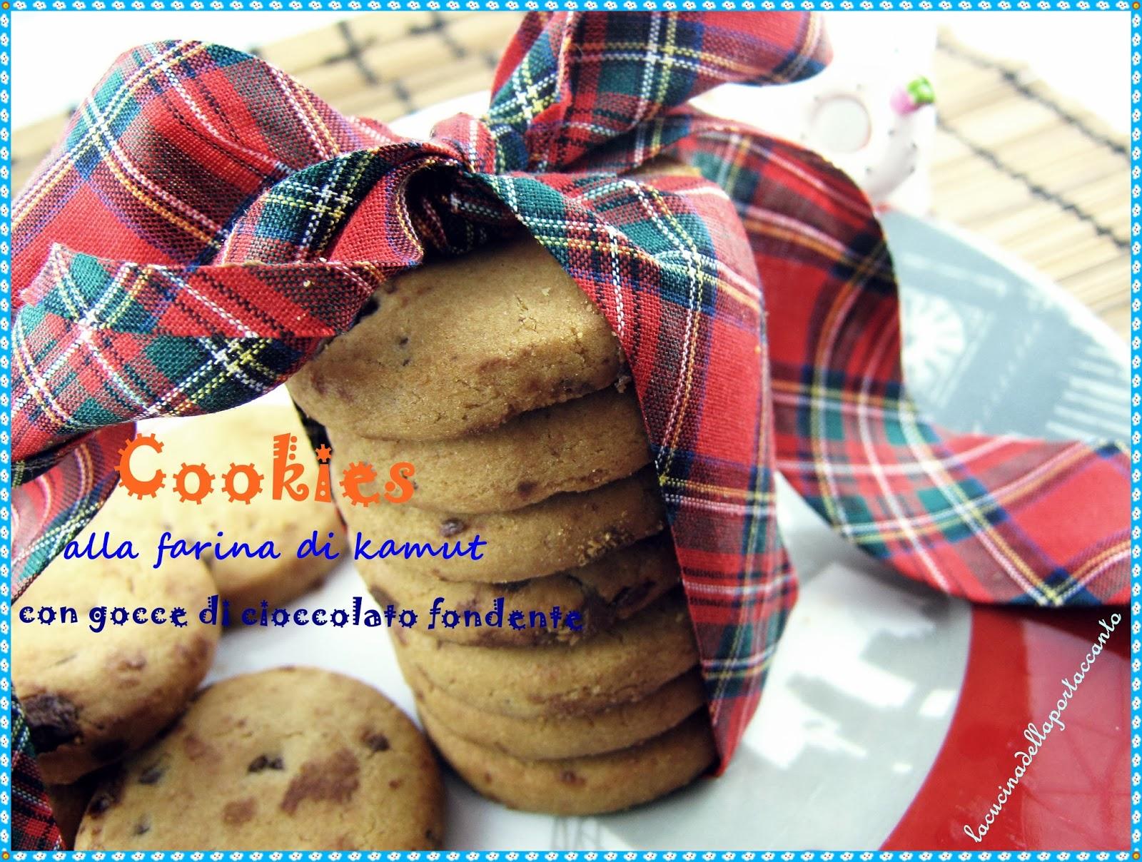 london cookies integrali al kamut con gocce di cioccolato fondente
