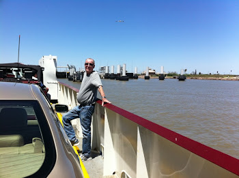 Joe on the Galveston-Balboa Ferry 05/14/11