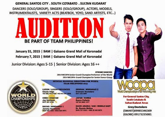 WCOPA Team Philippines Auditions
