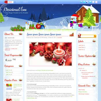 Christmas Eve blogger template. download personal blogger template. free blogspot template