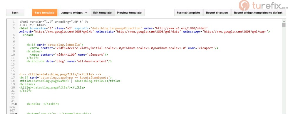 how to change blogger template html