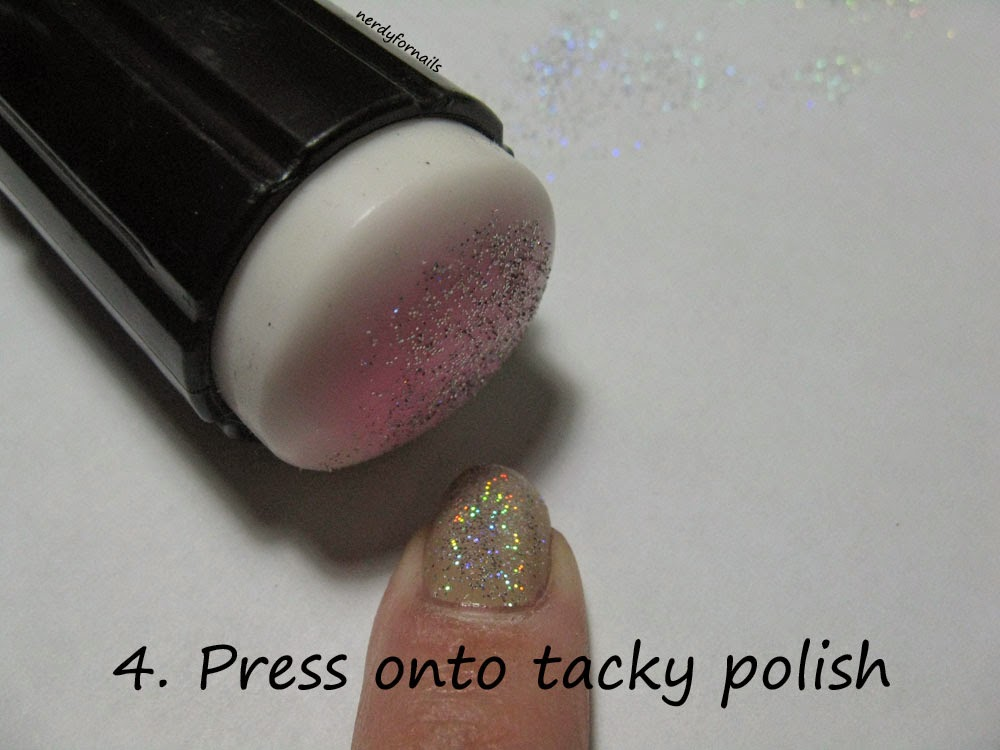 Wet n Wild Fantasy Makers Glitter Manicure Tutorial