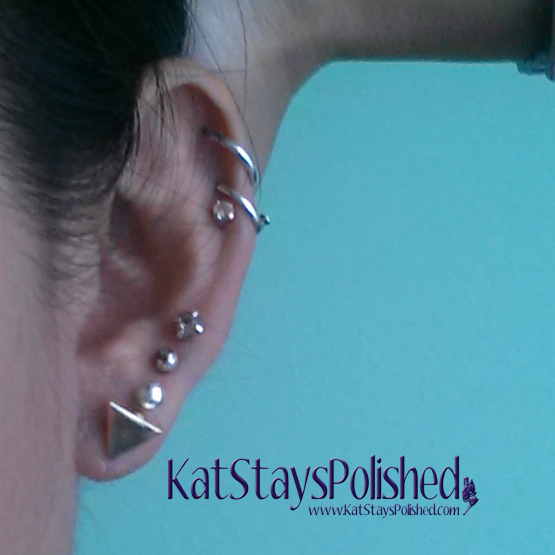 Wantable August 2014 Accessories - Allison Earrings - Gold Trianlge | Kat Stays Polished